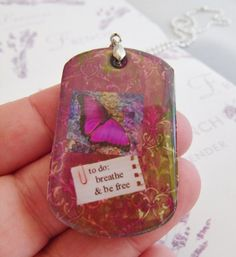 butterfly pendant purple to-do list positive affirmation by Starzyia on Etsy, $18.00