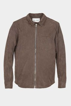 Our Legacy- Suede Zip Shirt Olive Mudd