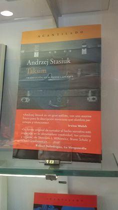 """Taksim"" d'Andrzej Stasiuk. Acantilado."