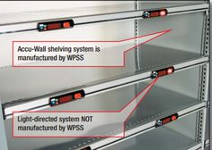 Western Pacific Accu-Wall shelving system integrate with any pick-to-light system.