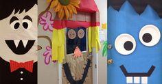 Un beau projet à faire à l'école pour décorer la porte de la classe ou du local de service de garde ou encore pour la maison! Vous pourrez travailler tous ensemble à choisir un thème et bricoler un monstre ou quelque chose de rigolo pour attirer l'a