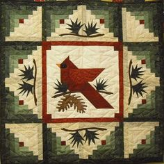 Winter's Majesty Cardinal Quilt Pattern