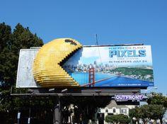 Pixels 3D Pac-Man movie billboard