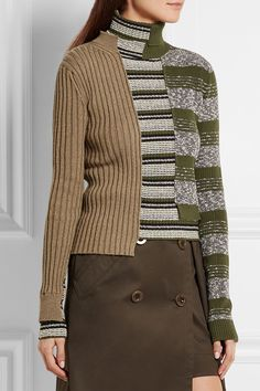Maison Margiela | Striped ribbed wool-blend turtleneck sweater…