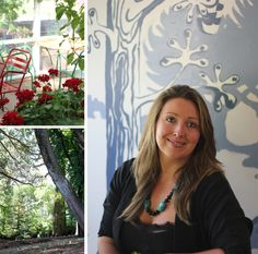 Larissa Wolf-Tasser of Wombat Hill House (cafe). A more delightful place would be hard to find