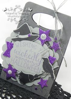 Projects by Tara Godfrey. Reverse Confetti stamp sets: Cast a Spell and So Many Stars. Confetti Cuts: Cast a Spell, Sweet Treat Tent, Give Thanks Label and Pretty Panels Stars. Halloween gifts. Halloween favors.