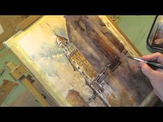 ▶ Watercolor Demo | Chattanooga Dome Building | Iain Stewart - YouTube