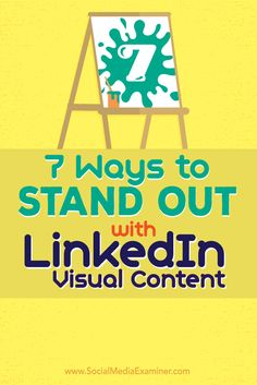 Do you want to attract more attention on LinkedIn?  Consider using images to build out each section of your LinkedIn profile.  In this article I'll share seven ways to improve your LinkedIn profile with visuals. Via @smexaminer.
