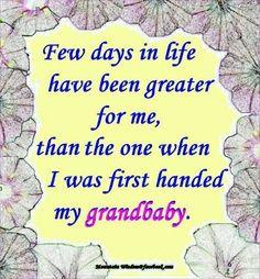 Love my grandbaby!