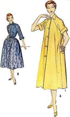 1950s Misses Duster Dress Vintage Sewing by MissBettysAttic, $10.00