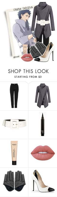"""""""Obito Uchiha    Naruto Shippuden"""" by kimiaki ❤ liked on Polyvore featuring Topshop, Yves Saint Laurent and Lime Crime"""