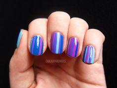 adorbs stripe mani from chalkboard nails
