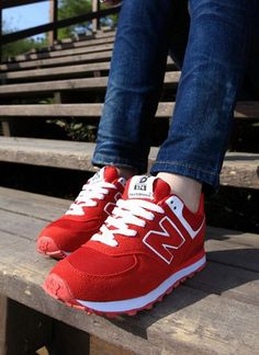 Red Sneakers | Sweet Style Thick Heels Shoes Sneaker  On Ushoes2014