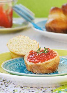 Rhabarber-Erdbeer-Marmelade mit Thymian