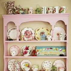 I'm sure that hutch was an ugly brown but so cute painted w fancy china.