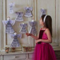 R�aliser des anges en papier pour No�l Plus