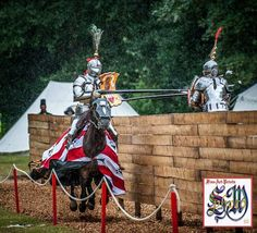Jan Gradon jousts Phillip Leitch during a storm at Arundel 2014 (photo by Stephen Moss) -The Jousting Life