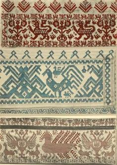 The embroidery work of northern Russia via thetextileblog.blogspot.com