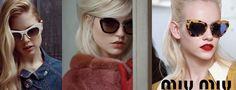 Miu Miu sunglasses collection - have a look! Summer Sunglasses, Sunglasses Women, Miu Miu, Catwalk, Eyewear, Collection, Fashion, Moda, Eyeglasses