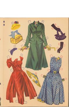 Ann Blyth Paper Dolls (3 of 11), Merrill #2550