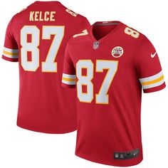 Travis Kelce Kansas City Chiefs Nike Color Rush Legend Jersey - Red