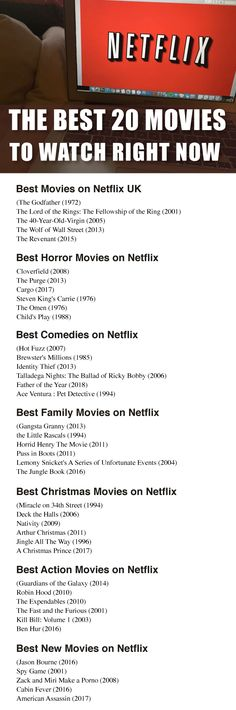 The Best 20 Movies To Watch Right Now on Netflix Forget spending half the night searching through HUNDREDS of MOVIES on Netflix! We have taken care of your needs with The Best 20 Movies To Watch Right Now on Netflix! Horror Movies On Netflix, Netflix Uk, Netflix Hacks, Netflix Movies To Watch, Netflix Codes, Best Horror Movies, Great Movies, Netflix Suggestions, Netflix Recommendations