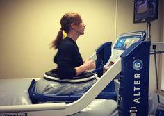 close up of AlterG Anti-Gravity Treadmill