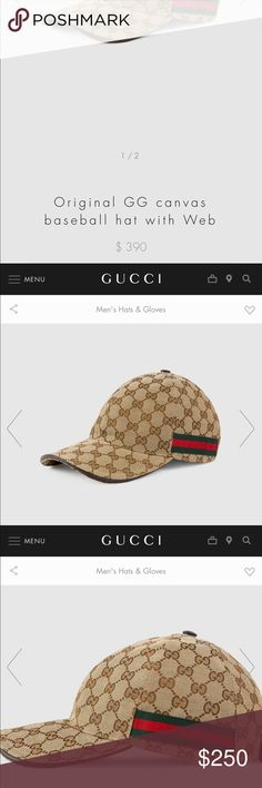 9bd93944 Men's Classic GUCCI hat Original men's Gucci hat! Used but great  conditions! SIZE: