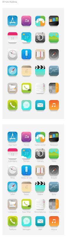 ios7 icons rethinking much better than original ones.   #ios7 #nikhil #iphone #icons #ui