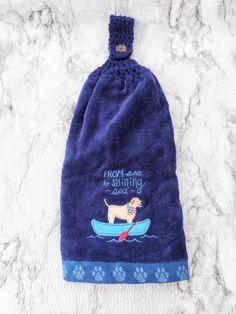 Crochet Kitchen Towels, Crochet Towel, Crochet Sunflower, Sea To Shining Sea, Getting A Puppy, New Homeowner, Double Crochet, House Warming, Winter Hats