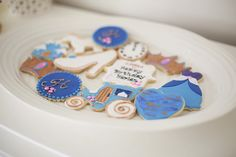 Cinderella cookies from Chic Cinderella Themed Birthday Party at Kara's Party Ideas. See more at karaspartyideas.com!