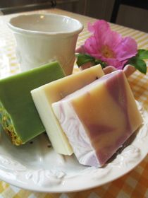 Lovely Finnish vegetable soaps at Keltainen Talo / The Yellow Country House in Pälkäne, Finland.
