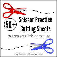 Here are 50+ FREE Scissor Practice Cutting Sheets to keep your little ones busy! Homeschool Giveaways is offering 50+ Scissor Practice Cutting
