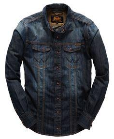 Mens - Brad Denim Shirt in Artisan Vintage Dark Casual Shirts For Men, Men Casual, Cargo Shirts, Men Dress Up, Denim Shirt Men, Mens Fall, Shirt Shop, Denim Fashion, Shirt Style