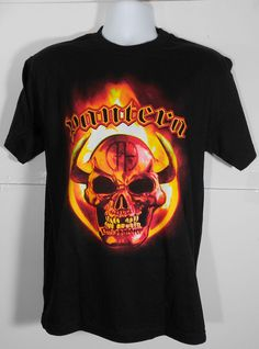 """Brand New Pantera T-Shirt. 100% Cotton Preshrunk high quality shirt. L: Width 21"""" Length: 29"""" Measurements:M: Width 19"""" Length: 27"""" **Once your item(s) leave USA delivery times are out of our control."""