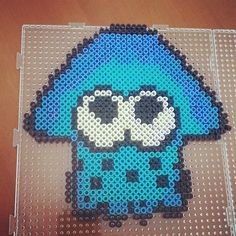 Squid Splatoon perler beads  by kiiroally