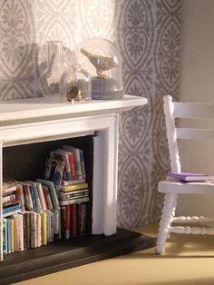 Miniature reading corner.