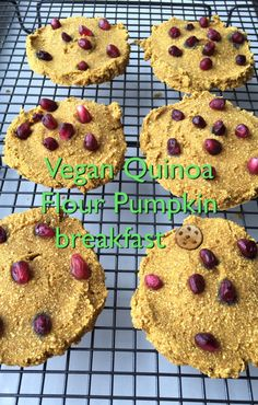 Using all organic ingredients: In a large bowl mix 1/2 c unsweetened applesauce, 1/4 c truvia in the raw, 1 tsp vanilla extract & 1/4 c + 2 T pumpkin puree. In a separate bowl mix 1 c quinoa flour, 1/4 c coconut flour. 1/4 tsp himalayan salt, 1/2 tsp baking soda, 1/4 tsp baking powder, 1 1/4 tsp cinnamon, 1/4 tsp pumpkin pie spice & 1/4 tsp nutmeg. Pour wet ingredients into dry and mix until well combined. I found it easier to refrigerate the batter a bit before making into cookie shapes. I…