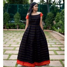 Black and red Off Shoulder Gown Long Gown Dress, Saree Dress, Saree Blouse, Wrap Dress, Off Shoulder Gown, Off Shoulder Blouse, Long Dress Design, Sumo, Indian Gowns Dresses