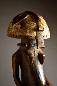 Ethnic group : Luba / Songye Country of origin : D. R. Congo Material : Wood, beads, pigment, hair, rope, cloth, shells Approximate age : Early – Mid 20th Century Dimensions : 70 cm