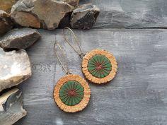 Leather earrings. Bohemian earrings. Hippie by VelmaJewelry
