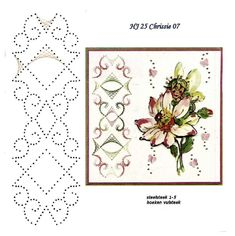 Latest Trend in Paper Embroidery - Craft & Patterns Embroidery Map, Embroidery Patterns, Card Patterns, Stitch Patterns, 3d Paper Projects, Art Carte, String Art Patterns, Sewing Cards, Card Sketches