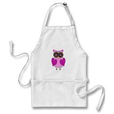 **SOLD** Thank you Hager of  Bad Goisern, Austria Pink and Purple Owl Vector Art Apron This is my drawing ©dollface766   I appreciate the purchase and knowing my owl will be worn by someone really special.