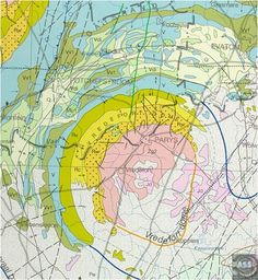 Geology map of the Vredefort impact area, South Africa