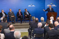 Michel Temer durante encontro com empresários em Brasília
