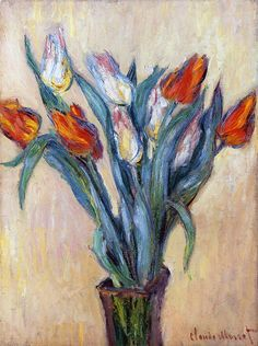 """Tulips,"" Claude Monet"