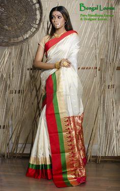 Beautiful Art-Silk Banarasi Saree Available For Sale from Bengal Looms