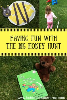 """Practice fine motor and gross motor skills while reading """"The Big Honey Hunt""""!    Fine Motor Skills 