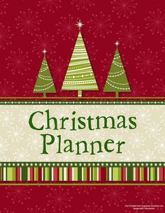 Christmas Planner - loads of printables to help organize your holiday season.