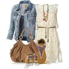 I feel that a denim jacket would multiply my dress wardrobe by 2! :)